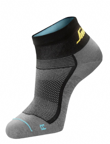 Snickers 9218 LiteWork 37.5® Low Socks (Grey Melange / Black)